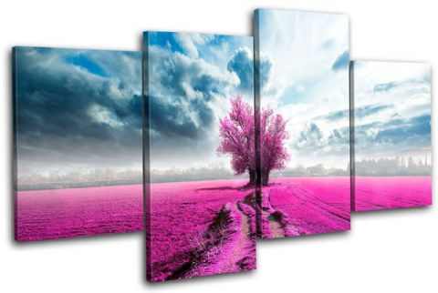 Surreal Tree Pink Landscapes - 13-0580(00B)-MP04-LO